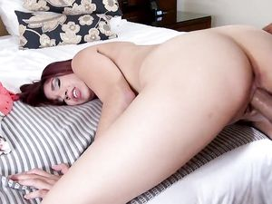 First Time Creampie For The Cute Latina Girl
