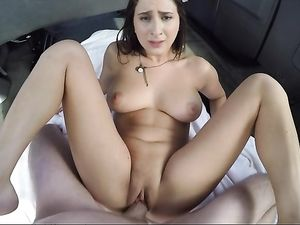 Slut In His Van Gets In The Back For Hot Fucking