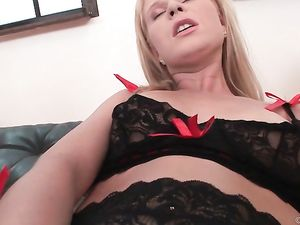 Hot Lingerie Girl Gaped Over And Over By Big Dick